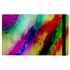 Colorful Abstract Paint Splats Background Apple Ipad 2 Flip Case