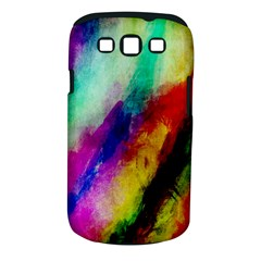 Colorful Abstract Paint Splats Background Samsung Galaxy S Iii Classic Hardshell Case (pc+silicone)