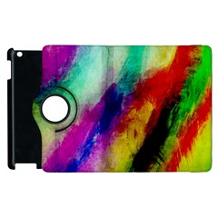 Colorful Abstract Paint Splats Background Apple Ipad 2 Flip 360 Case
