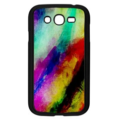 Colorful Abstract Paint Splats Background Samsung Galaxy Grand Duos I9082 Case (black)