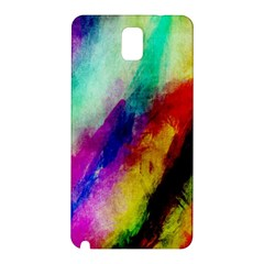 Colorful Abstract Paint Splats Background Samsung Galaxy Note 3 N9005 Hardshell Back Case