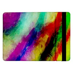 Colorful Abstract Paint Splats Background Samsung Galaxy Tab Pro 12 2  Flip Case