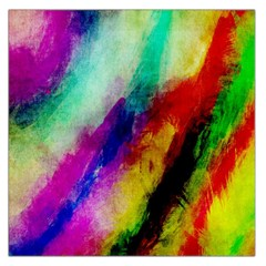 Colorful Abstract Paint Splats Background Large Satin Scarf (square)