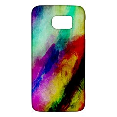 Colorful Abstract Paint Splats Background Galaxy S6