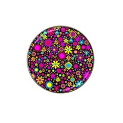 Bright And Busy Floral Wallpaper Background Hat Clip Ball Marker (4 Pack)