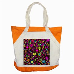 Bright And Busy Floral Wallpaper Background Accent Tote Bag