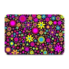 Bright And Busy Floral Wallpaper Background Plate Mats