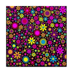 Bright And Busy Floral Wallpaper Background Face Towel