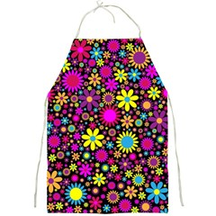 Bright And Busy Floral Wallpaper Background Full Print Aprons
