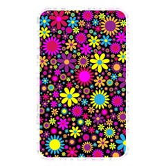 Bright And Busy Floral Wallpaper Background Memory Card Reader