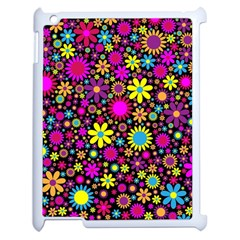 Bright And Busy Floral Wallpaper Background Apple Ipad 2 Case (white)