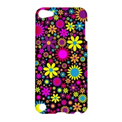 Bright And Busy Floral Wallpaper Background Apple Ipod Touch 5 Hardshell Case