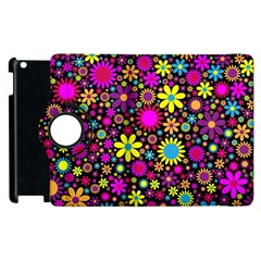 Bright And Busy Floral Wallpaper Background Apple Ipad 3/4 Flip 360 Case