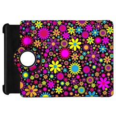 Bright And Busy Floral Wallpaper Background Kindle Fire Hd 7