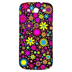 Bright And Busy Floral Wallpaper Background Samsung Galaxy S3 S Iii Classic Hardshell Back Case