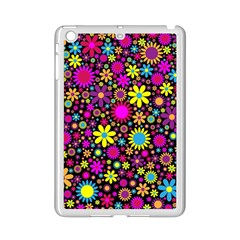 Bright And Busy Floral Wallpaper Background Ipad Mini 2 Enamel Coated Cases