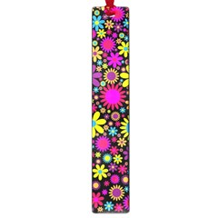 Bright And Busy Floral Wallpaper Background Large Book Marks
