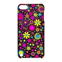 Bright And Busy Floral Wallpaper Background Apple Ipod Touch 5 Hardshell Case With Stand