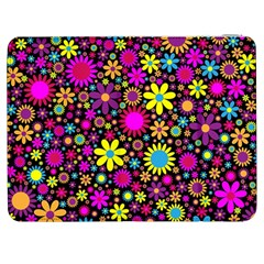 Bright And Busy Floral Wallpaper Background Samsung Galaxy Tab 7  P1000 Flip Case