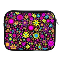 Bright And Busy Floral Wallpaper Background Apple Ipad 2/3/4 Zipper Cases