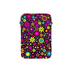 Bright And Busy Floral Wallpaper Background Apple Ipad Mini Protective Soft Cases