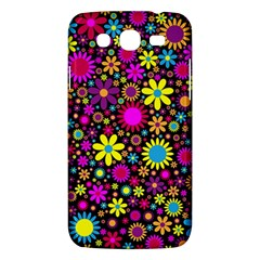 Bright And Busy Floral Wallpaper Background Samsung Galaxy Mega 5 8 I9152 Hardshell Case