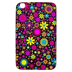 Bright And Busy Floral Wallpaper Background Samsung Galaxy Tab 3 (8 ) T3100 Hardshell Case
