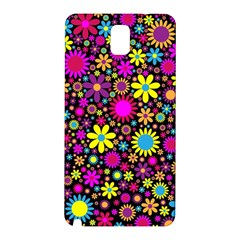 Bright And Busy Floral Wallpaper Background Samsung Galaxy Note 3 N9005 Hardshell Back Case