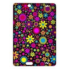 Bright And Busy Floral Wallpaper Background Amazon Kindle Fire Hd (2013) Hardshell Case