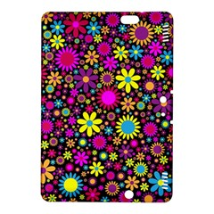 Bright And Busy Floral Wallpaper Background Kindle Fire Hdx 8 9  Hardshell Case