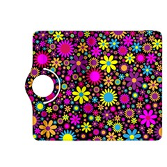 Bright And Busy Floral Wallpaper Background Kindle Fire Hdx 8 9  Flip 360 Case