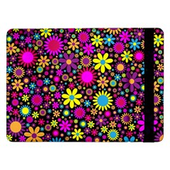Bright And Busy Floral Wallpaper Background Samsung Galaxy Tab Pro 12 2  Flip Case