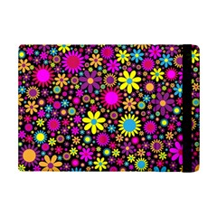 Bright And Busy Floral Wallpaper Background Ipad Mini 2 Flip Cases