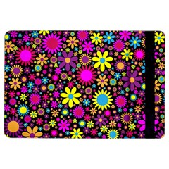 Bright And Busy Floral Wallpaper Background Ipad Air 2 Flip