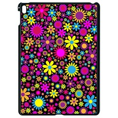 Bright And Busy Floral Wallpaper Background Apple Ipad Pro 9 7   Black Seamless Case