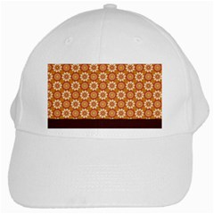 Floral Seamless Pattern Vector White Cap