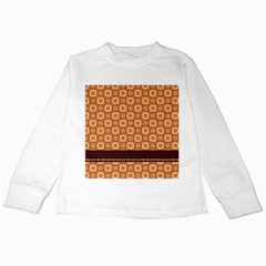 Floral Seamless Pattern Vector Kids Long Sleeve T Shirts