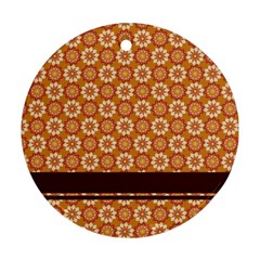 Floral Seamless Pattern Vector Round Ornament (two Sides)