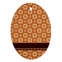 Floral Seamless Pattern Vector Oval Ornament (two Sides)