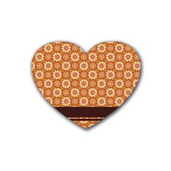 Floral Seamless Pattern Vector Heart Coaster (4 Pack)