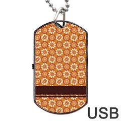 Floral Seamless Pattern Vector Dog Tag Usb Flash (one Side)