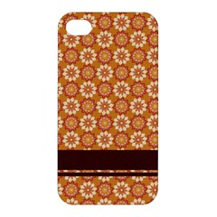 Floral Seamless Pattern Vector Apple Iphone 4/4s Hardshell Case
