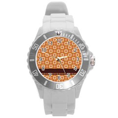 Floral Seamless Pattern Vector Round Plastic Sport Watch (l)
