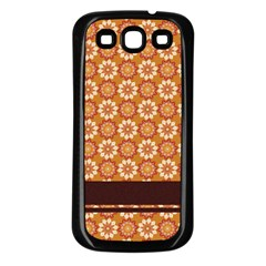 Floral Seamless Pattern Vector Samsung Galaxy S3 Back Case (black)