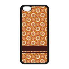 Floral Seamless Pattern Vector Apple Iphone 5c Seamless Case (black)