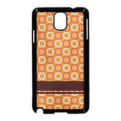 Floral Seamless Pattern Vector Samsung Galaxy Note 3 Neo Hardshell Case (black)