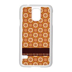 Floral Seamless Pattern Vector Samsung Galaxy S5 Case (white)