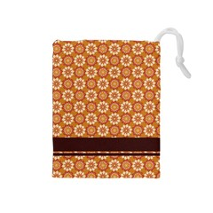 Floral Seamless Pattern Vector Drawstring Pouches (medium)
