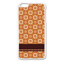 Floral Seamless Pattern Vector Apple Iphone 6 Plus/6s Plus Enamel White Case