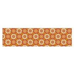 Floral Seamless Pattern Vector Satin Scarf (oblong)
